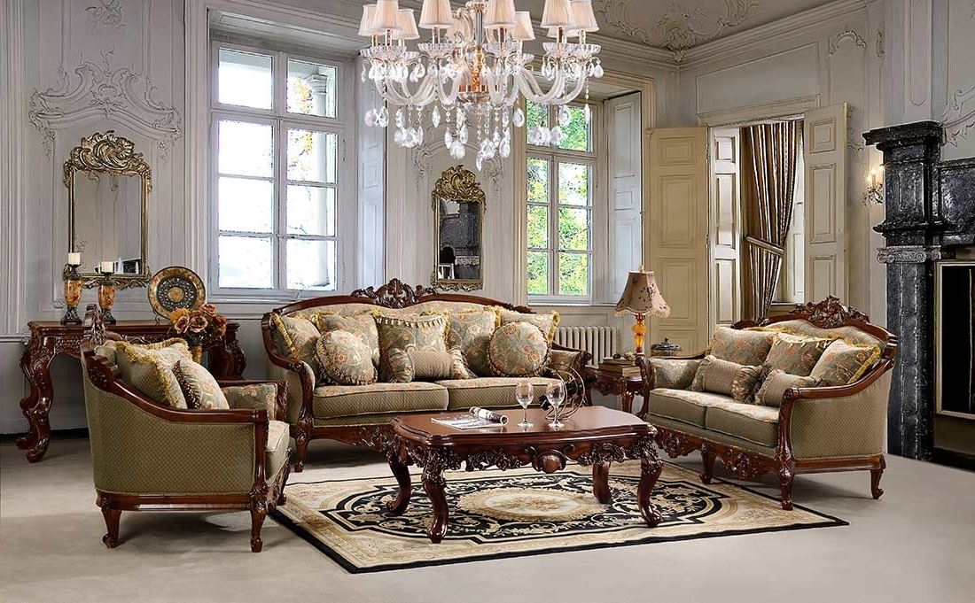 Traditional Chenille Fabric Sofa Hd (View 5 of 10)