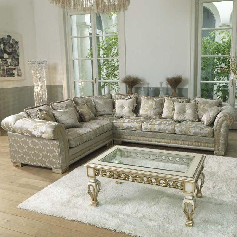 Traditional Fabric Sofas Pertaining To Popular Corner Sofa / Traditional / Fabric / 5 Seater – Ambassador – Pigoli (View 2 of 10)