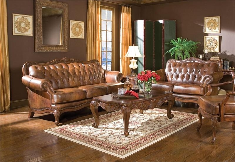 Traditional Sofas And Chairs Pertaining To Recent Victoria Traditional Sofa Set  (View 9 of 10)
