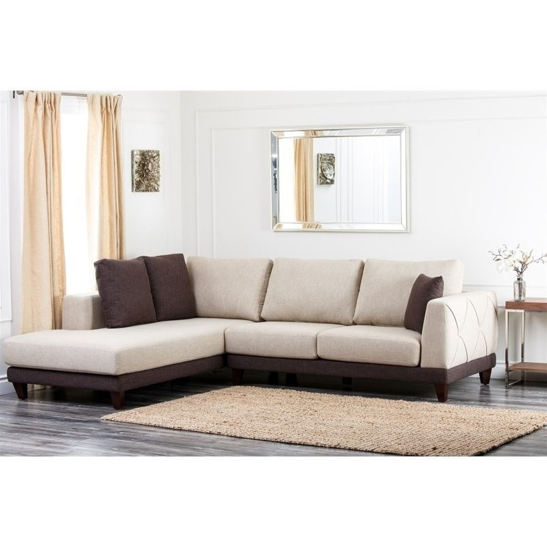 Trendy Abbyson Living Juliette Fabric Sectional Sofa In Cream – Rl 1312 Crm Inside Abbyson Sectional Sofas (View 2 of 10)