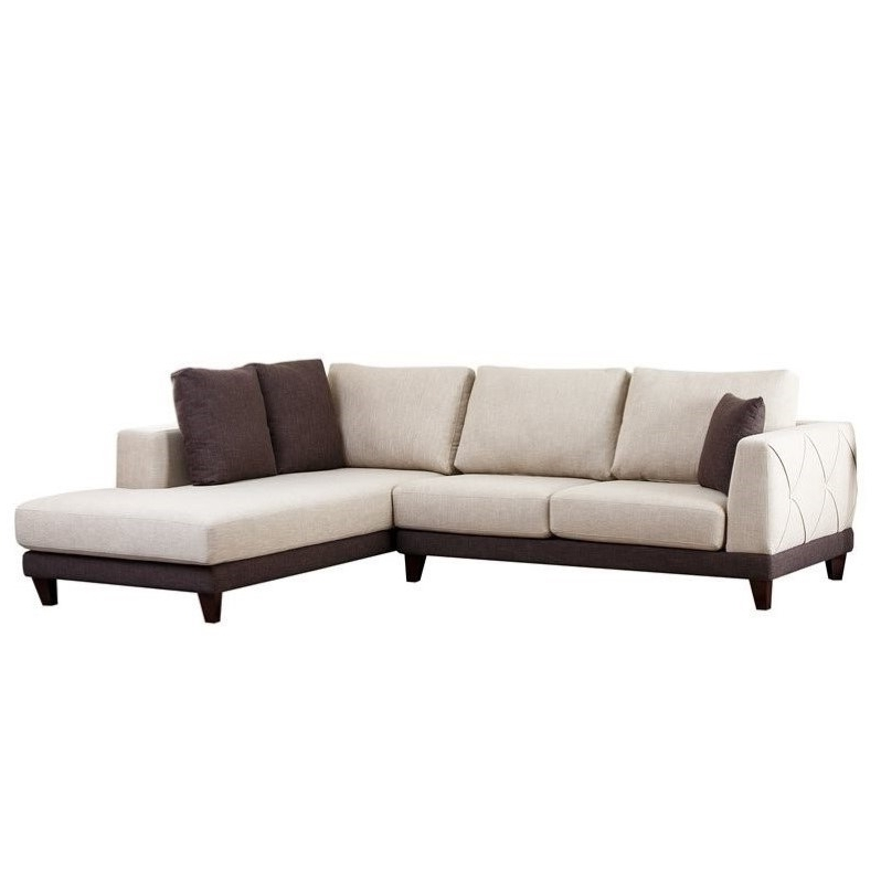Trendy Abbyson Sectional Sofas Intended For Abbyson Living Juliette Fabric Sectional Sofa In Cream – Rl 1312 Crm (View 9 of 10)