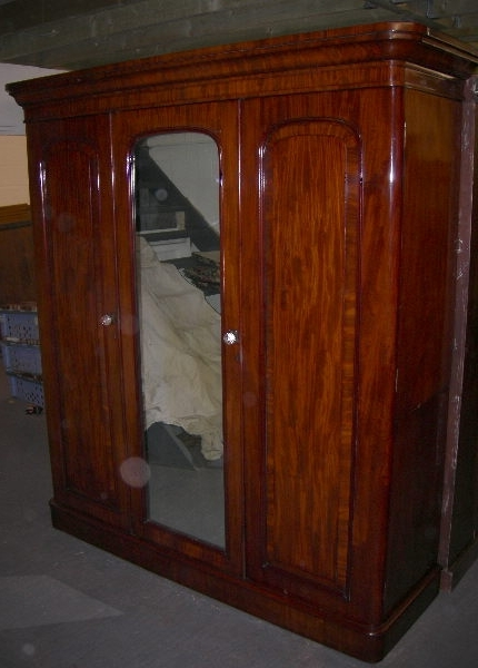 Trendy Antique Triple Wardrobes Throughout Antique Furniture Warehouse – Antique Victorian Mahogany Wardrobe (View 13 of 15)
