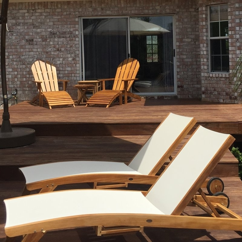 Trendy Chicteak Miami Teak Chaise Lounge & Reviews (View 15 of 15)