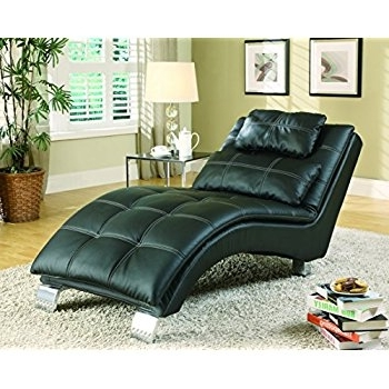 Trendy Coaster Chaise Lounges Pertaining To Amazon: Coaster Home Furnishings Dilleston Pillow Top Chaise (View 11 of 15)