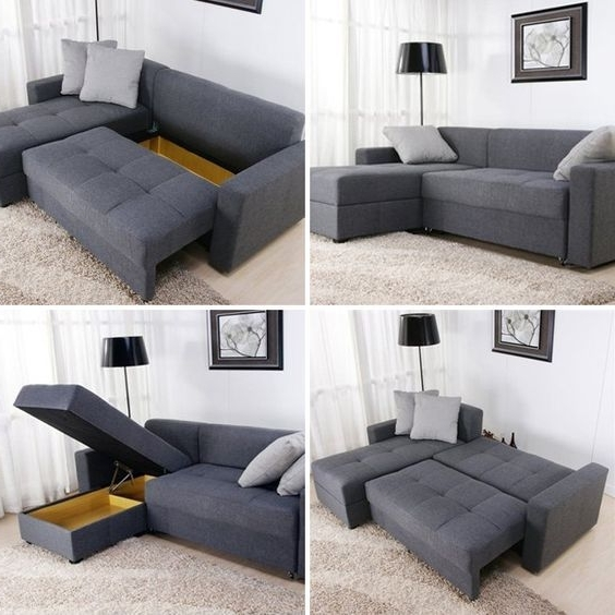 Trendy Convertible Sectional Sofas Intended For Small Space Solutions: 12 Cool Pieces Of Convertible Furniture (View 8 of 10)