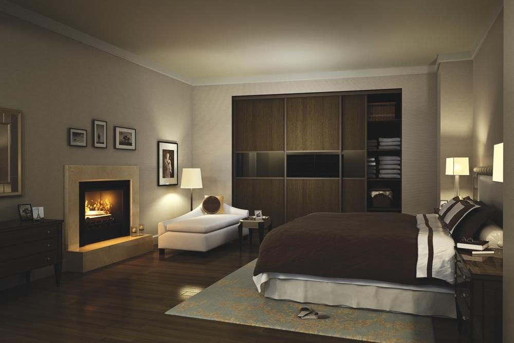 Trendy Dark Brown Wardrobes Within Sliding Wardrobe With Dark Brown Tone. – Djl Designs Ltd (View 14 of 15)