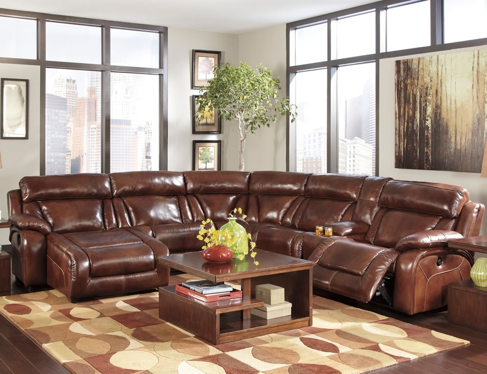 Trendy Decoration In Brown Leather Sectional Sofa Brown Leather Sectional Intended For Brown Sectionals With Chaise (View 12 of 15)
