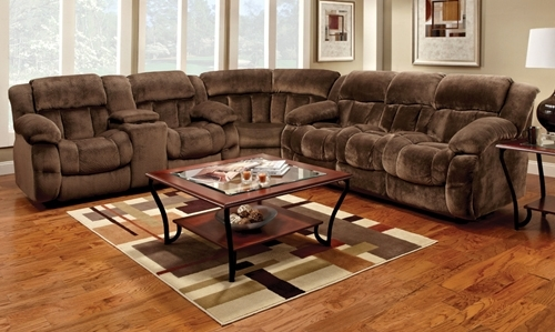 Trendy Farmers Furniture Sectional Sofas For Fhf – Catalog – Champion Reclining Sectional (View 9 of 10)