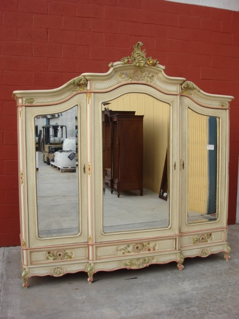 Trendy French Shabby Chic Wardrobes Regarding Home Design : Trendy French Shabby Chic Wardrobes Louis 20Dbl (View 15 of 15)