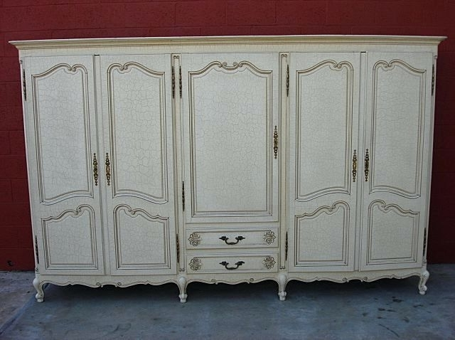 Trendy French Style Armoires Wardrobes Intended For Wardrobes ~ Antique Oak Armoire Wardrobe Antique Knockdown (View 14 of 15)
