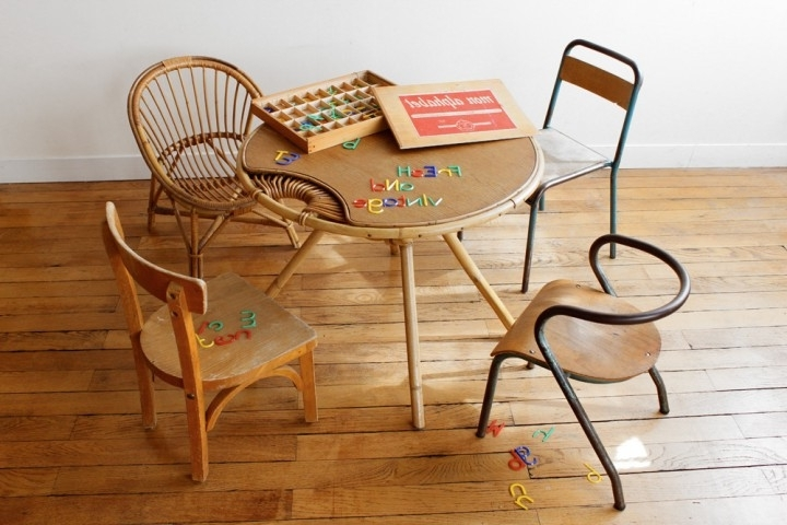 Trendy French Vintage Kids Chaises Http://mobilier Vintage (View 15 of 15)