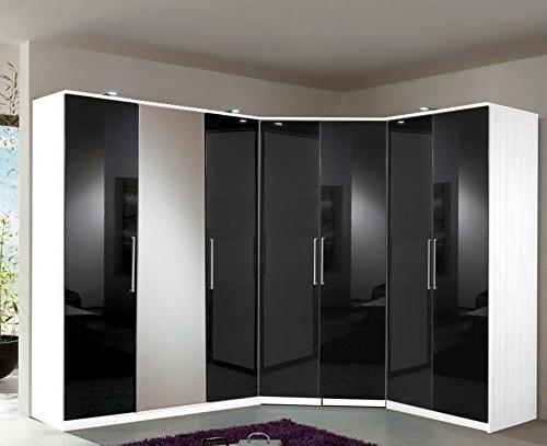 Trendy Germanica Bremen 7 Door Modular Corner Wardrobes Bedroom Furniture Throughout Black And White Wardrobes Set (View 13 of 15)
