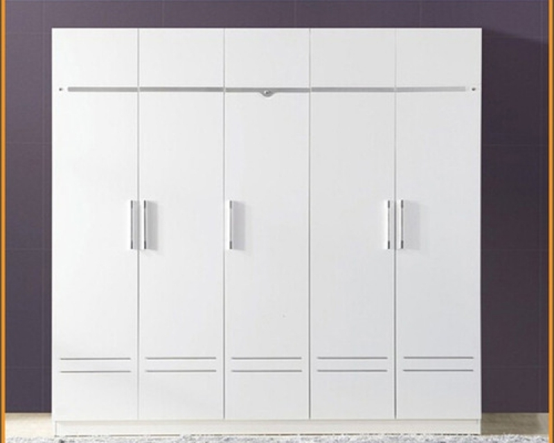Trendy Gorgeous Five Door Wardrobe Design Remodel (View 13 of 15)