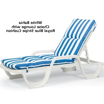 Trendy Grosfillex 44031004 – Bahia Stackable Chaise Lounge Chair – White With Regard To Chaise Lounge Chairs With Cushions (View 13 of 15)