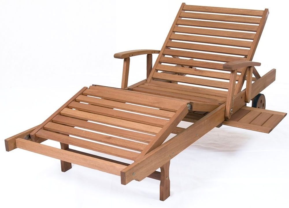 Trendy Hardwood Chaise Lounge Chairs Pertaining To Chic Wood Lounge Chairs Outdoor Choosing The Right Outdoor Chaise (View 13 of 15)