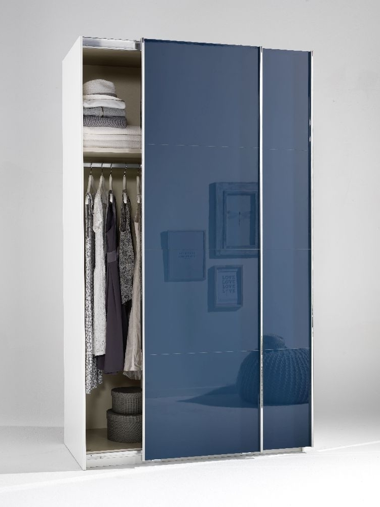 Trendy High Gloss Wardrobes Inside Buy Welle Mobel 5 Plus Slider Level 2 Sliding Wardrobe – Sapphire (View 14 of 15)