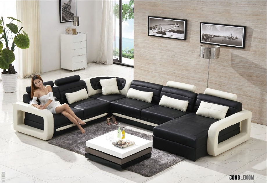 Trendy Living Room Sofa Chairs Throughout 2015 Modern U Shape Leather Sofa /living Room Sofa/sofa Furniture (View 8 of 10)