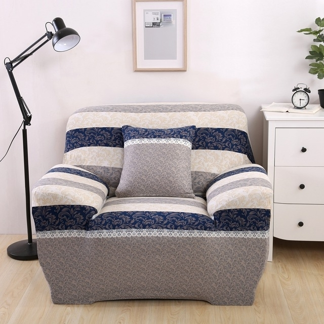 Trendy Luxury Reclining Sofa Covers Modern Design Washable Stripe Brief With Regard To Washable Sofas (View 8 of 10)