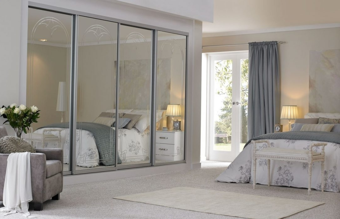 Trendy Mirrored Wardrobes In White Mirrored Sliding Wardrobe Doors With Mirrors Door Wardrobes (View 13 of 15)