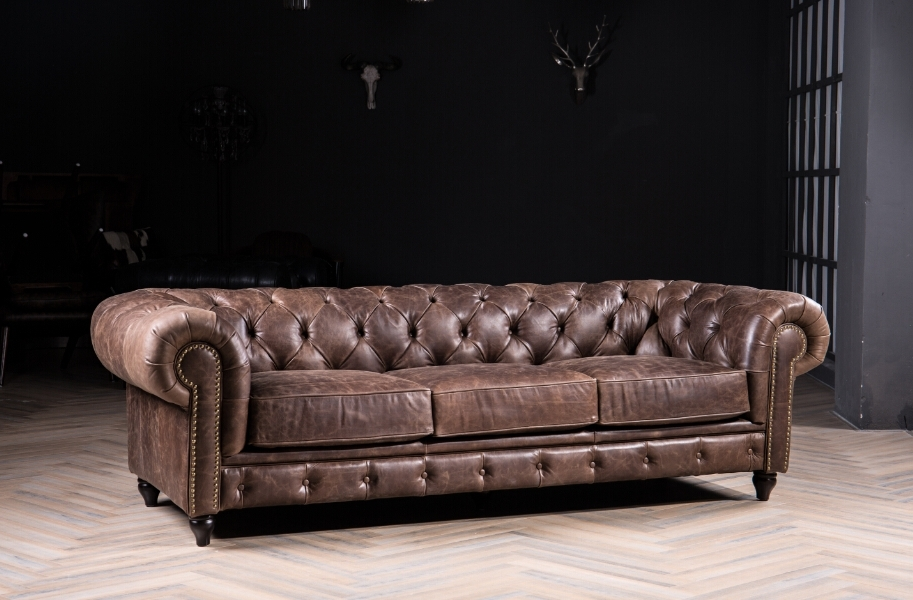 Trendy Modern Leather Chesterfield Sofa Classic Sofa For Antique Style Throughout Vintage Chesterfield Sofas (View 7 of 10)