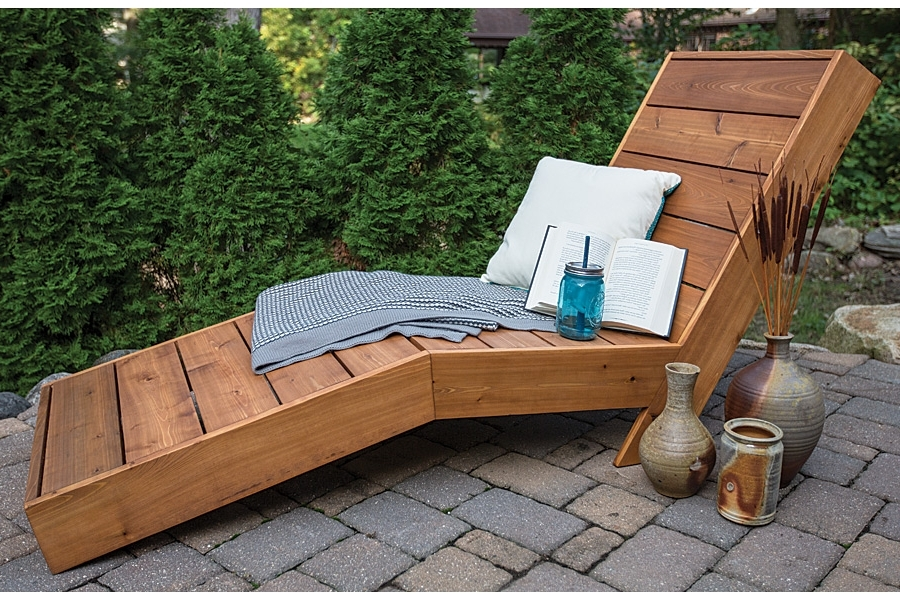 Trendy Outdoor Chaise Lounge – Buildsomething Throughout Wooden Chaise Lounges (View 6 of 15)