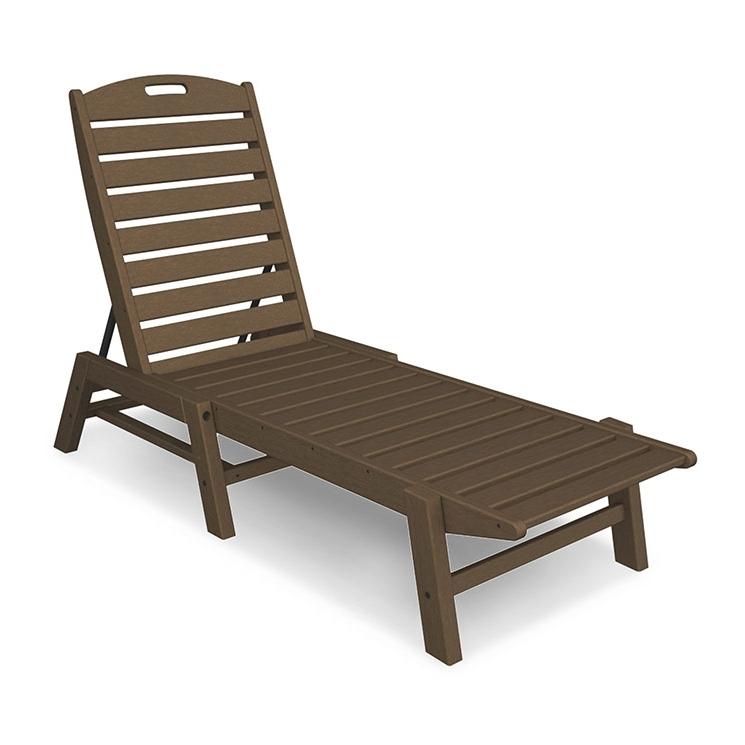 Trendy Outdoor Patio Chaise Lounge Chairs For Armless Chaise Lounge Chair (View 12 of 15)