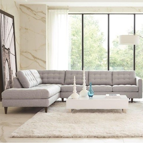 Trendy Rowe Modern Mix Contemporary Sectional Sofa With Chaise (View 10 of 10)