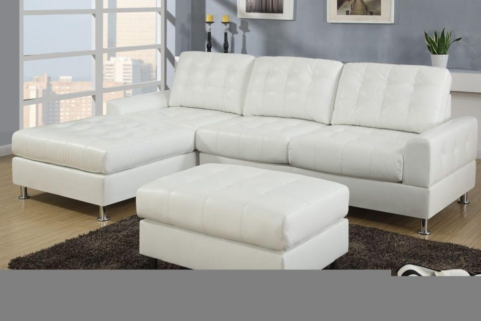 Trendy Sectional Sleeper Sofas With Ottoman With Sectional Sofa : Faux Leather L Shaped Sofa Leather Sofa Small (View 6 of 10)