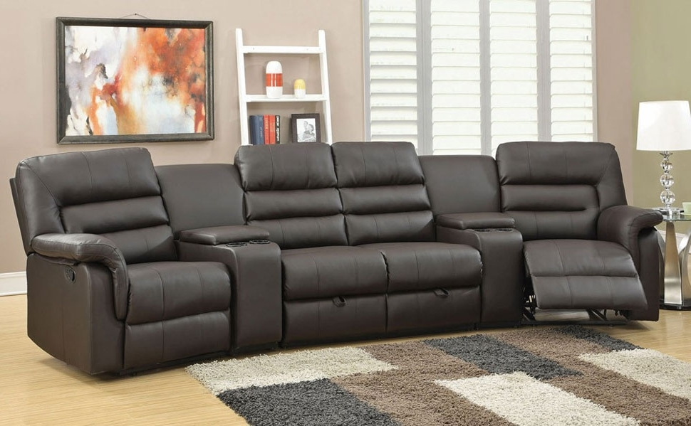 Trendy Sectional Sofa: Astonishing Theatre Sectional Sofas Home Theater In Theatre Sectional Sofas (View 9 of 10)