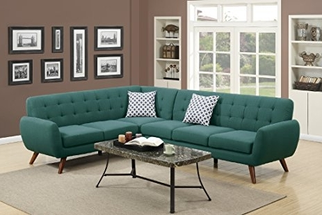 Trendy Sectional Sofas At Amazon Regarding Amazon: Modern Retro Sectional Sofa (laguna): Kitchen & Dining (View 8 of 10)