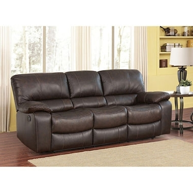 Trendy Sectional Sofas At Sam's Club For Riley Top Grain Leather Reclining Sofa Sam S Club Inside (View 6 of 10)