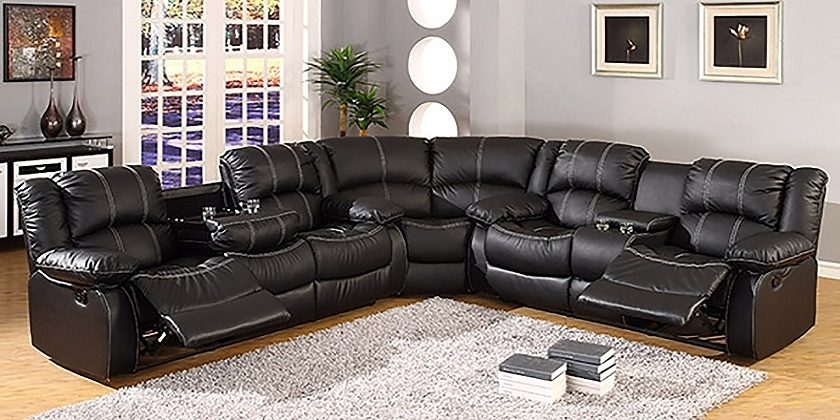 Trendy Sectional Sofas With Cup Holders For Leather Sectional Sofas With Recliners And Cup Holders 2018 Couch (View 10 of 10)