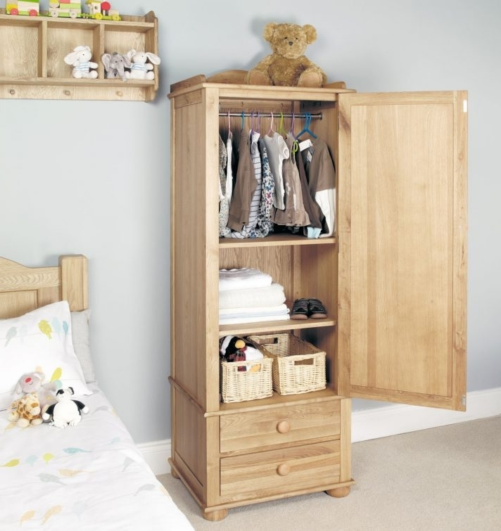 Trendy Single Oak Wardrobes With Drawers Pertaining To Single Wardrobe With Drawers Ikea Small Childrens Oak Black Uk (View 14 of 15)