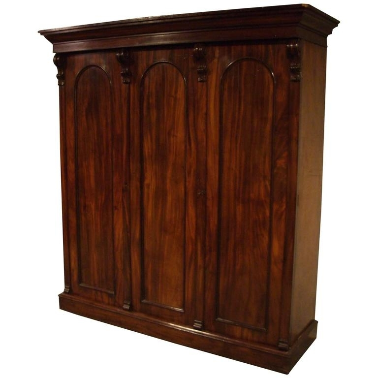 Trendy Victorian Wardrobes For Sale In 19Th Century Victorian Three Door Mahogany Wardrobe For Sale At (View 12 of 15)