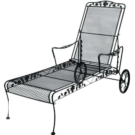 Trendy Wrought Iron Chaise Lounge Patio Furniture Nice Dogwood Outdoor With Regard To Wrought Iron Outdoor Chaise Lounge Chairs (View 7 of 15)