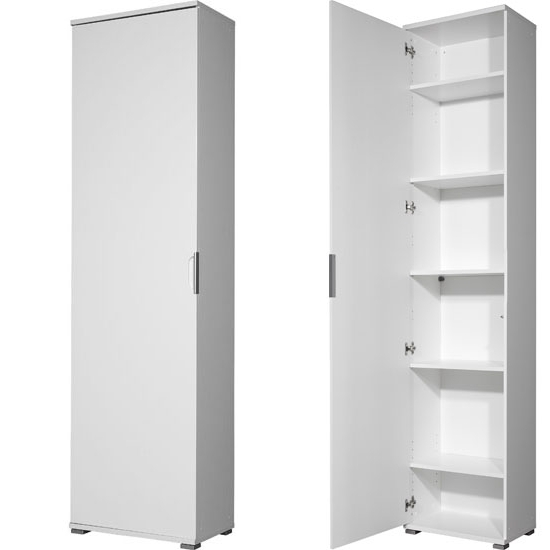 Trento High Gloss White Wardrobe/multipurpose Cabinet, 3016 84 With Current Tall White Gloss Wardrobes (View 12 of 15)