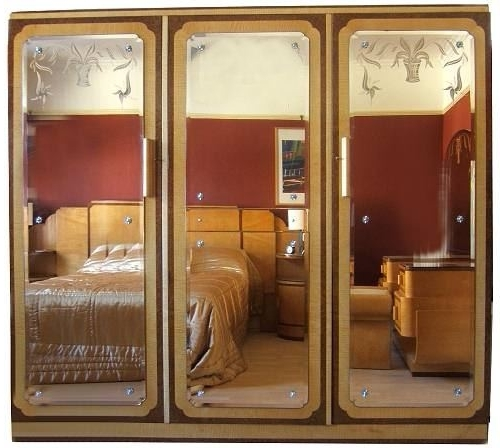 Triple Mirrored Wardrobes Regarding Well Known Art Deco Epstein Triple Mirror Wardrobe (View 7 of 15)