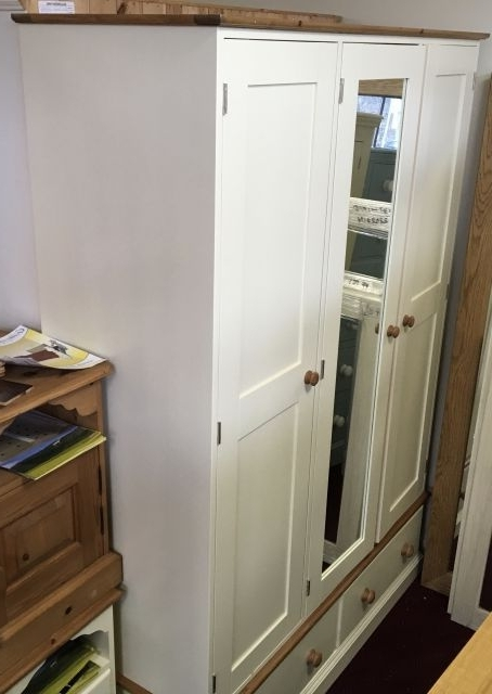 Triple Mirrored Wardrobes Throughout Recent Gillerson Pine Made To Measure Pine And Painted Triple Mirrored (View 10 of 15)