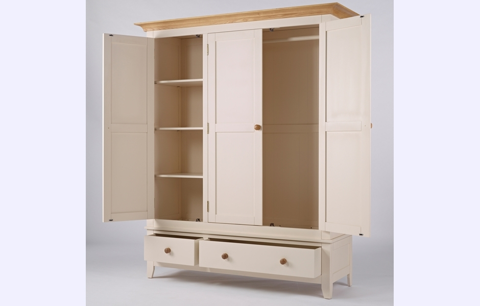 Triple Wardrobe – Camden Within Most Up To Date Cream Triple Wardrobes (View 2 of 15)