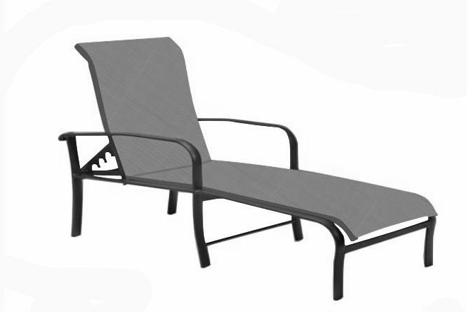 Tropitone Chaise Lounges In Well Known Chaise Lounge Sling (View 8 of 15)