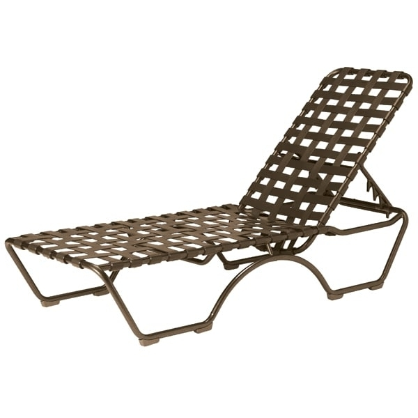 Tropitone Chaise Lounges Pertaining To Favorite Kahana Cross Strap Chaise Lounge (View 12 of 15)