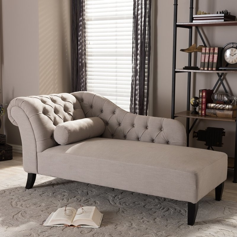 Tufted Chaises Inside Trendy Willa Arlo Interiors Rudd Tufted Chaise Lounge & Reviews (View 8 of 15)