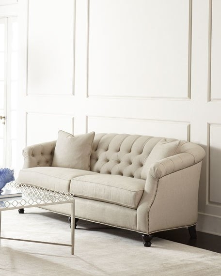 Tufted Sofa And Linens (View 10 of 10)