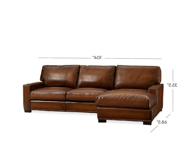 Turner Square Arm Leather Sofa With Chaise Sectional With With Current Leather Chaise Sectionals (View 5 of 15)