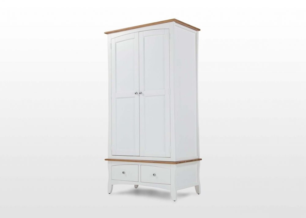 Two Door White Wardrobes Inside Most Up To Date Two Door Two Drawer White Wardrobe – Doncaster – Ez Living Furniture (View 11 of 15)