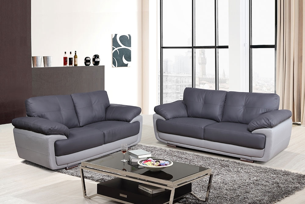 Two Tone Sofas With Regard To Popular Hilton 32 Seater Sofa – Two Tone Grey – We Do Sofas (View 9 of 10)