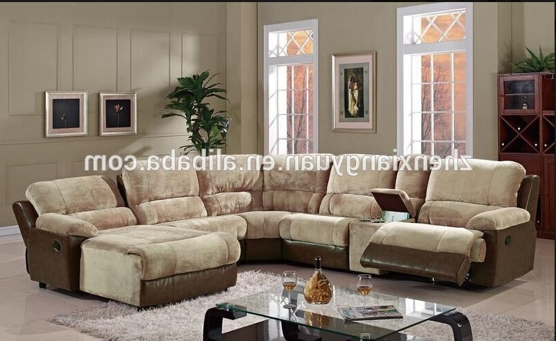U Shape Leather Sectional Recliner Sofa With Chaise – Buy Italy Throughout Widely Used Reclining U Shaped Sectionals (Gallery 3 of 10)