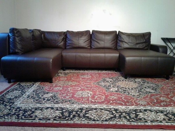 U Shaped Chocolate Brown Sectional Sofa (furniture) In Kansas City With Regard To Most Up To Date Kansas City Mo Sectional Sofas (View 8 of 10)