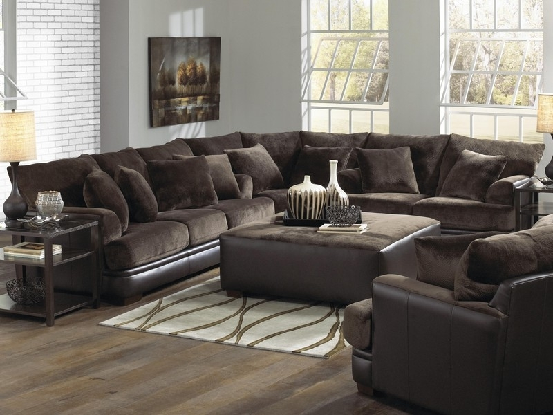 U Shaped Leather Sectional Sofas For Favorite U Shaped Sectional Sofa With Chaise Fabric All About House Design (View 5 of 10)
