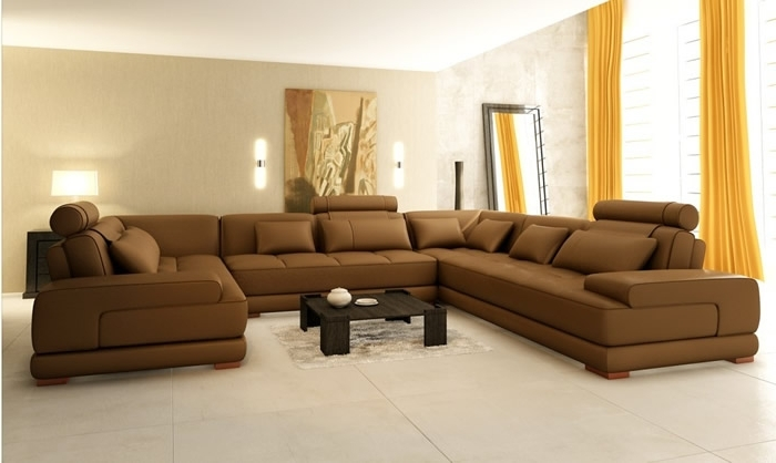 U Shaped Leather Sectional Sofas Pertaining To Most Recent Best U Shaped Sectional Sofa Part Ii – S3Net – Sectional Sofas (View 6 of 10)